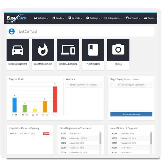 EasyCars dealer management system